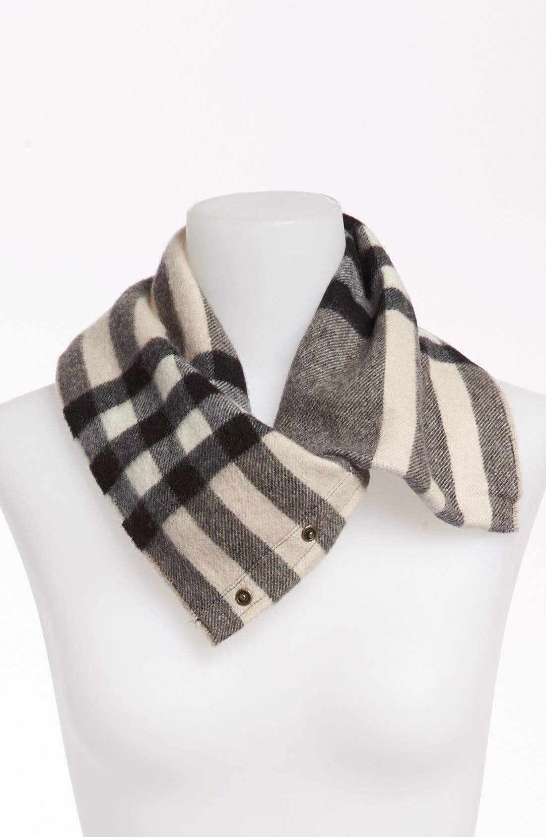 Alternate Image 1 Selected - Burberry Exploded Check Cashmere Snood (Girls)