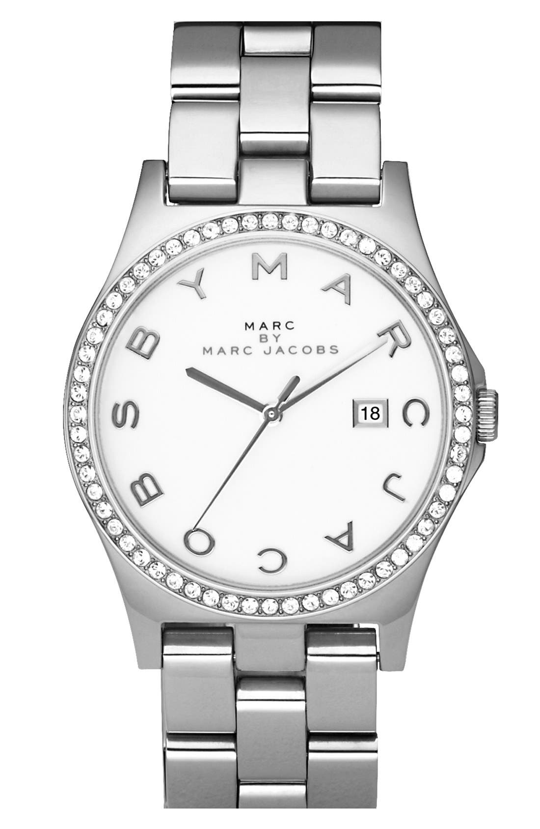 Alternate Image 1 Selected - MARC JACOBS 'Henry' Stainless Steel Watch