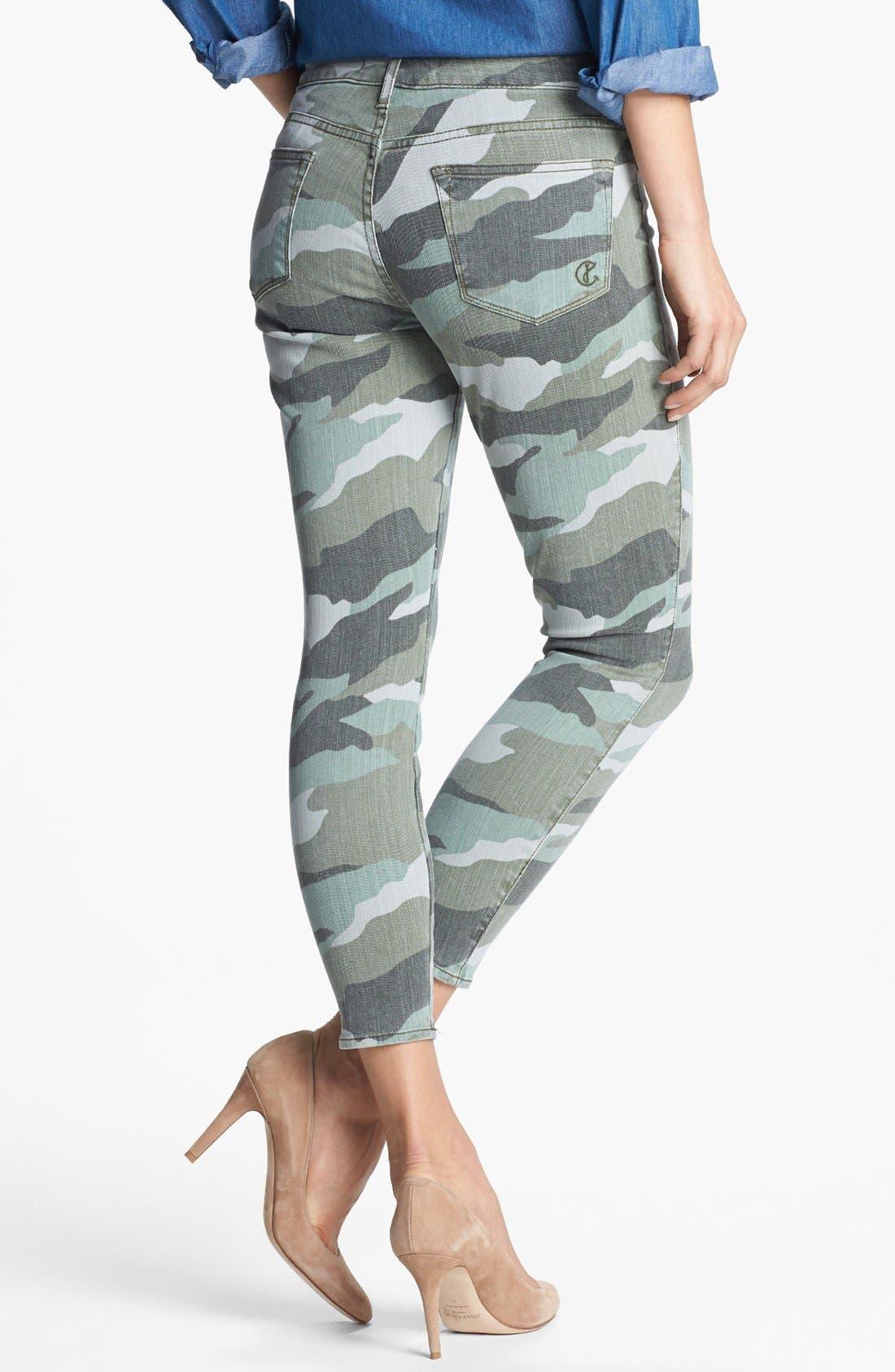 Alternate Image 2  - CJ by Cookie Johnson 'Believe' Camo Crop Stretch Jeans