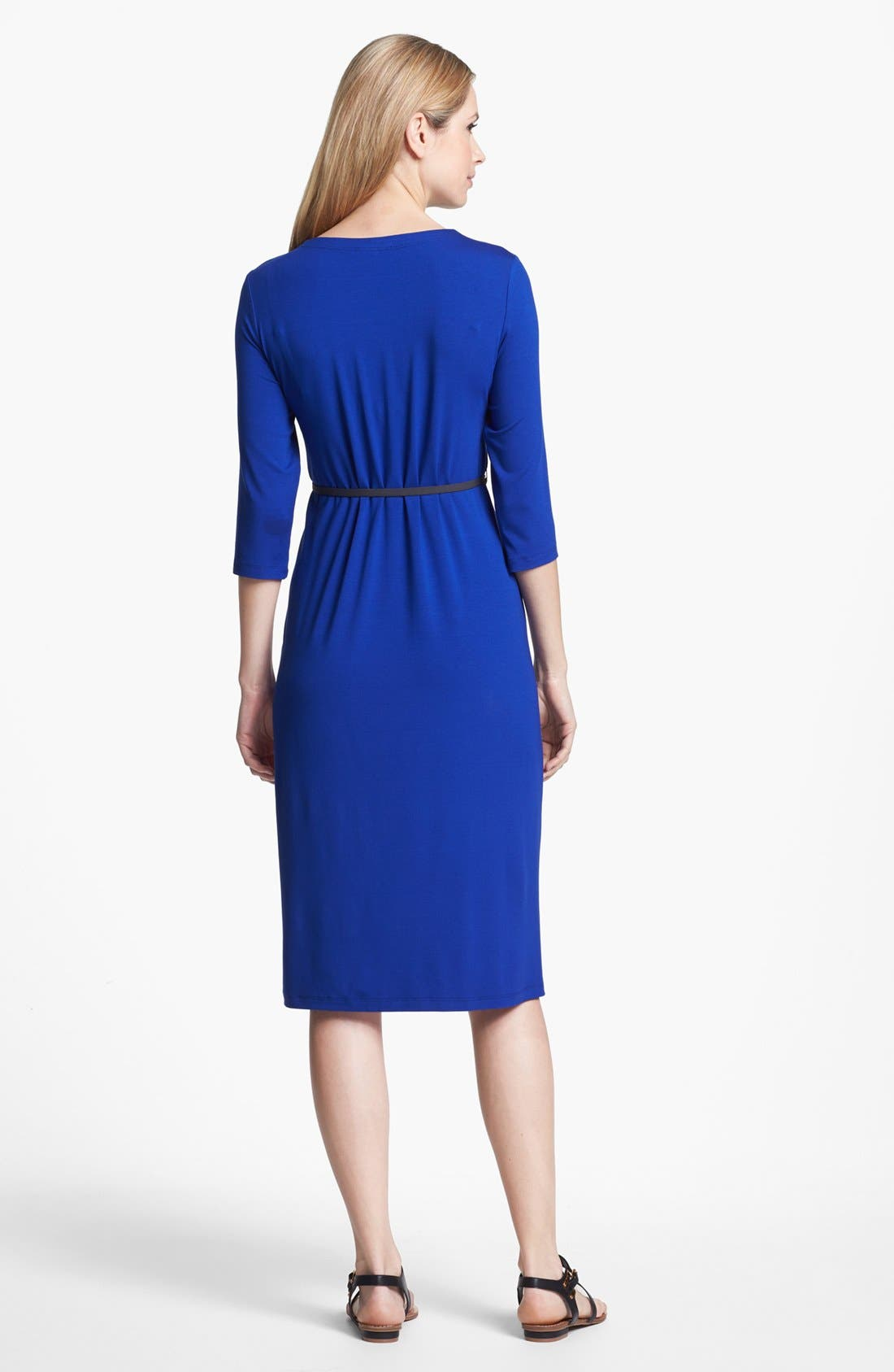 Alternate Image 2  - Eileen Fisher Elbow Sleeve Dress