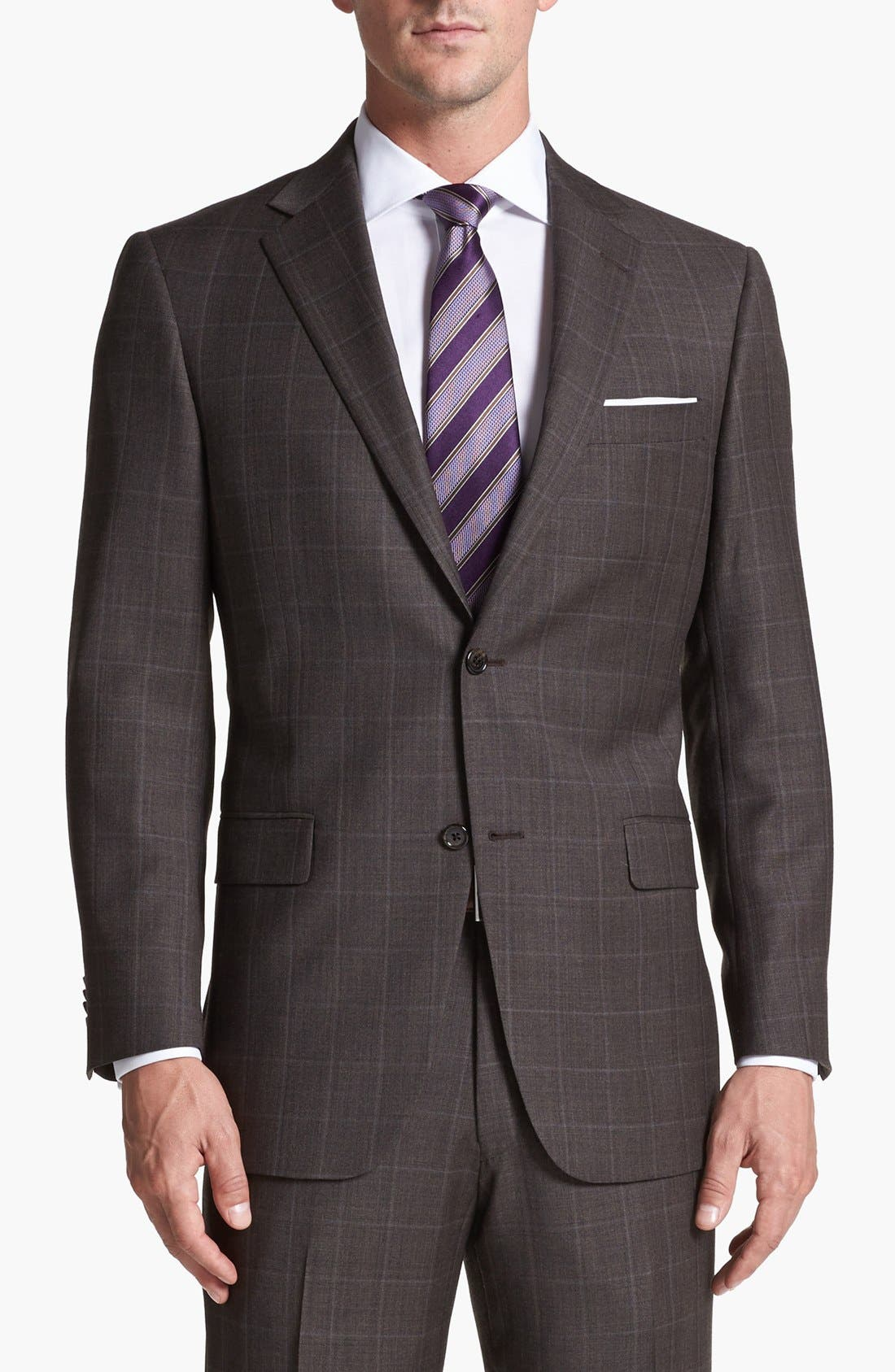 Alternate Image 4  - Hart Schaffner Marx Classic Fit Plaid Suit