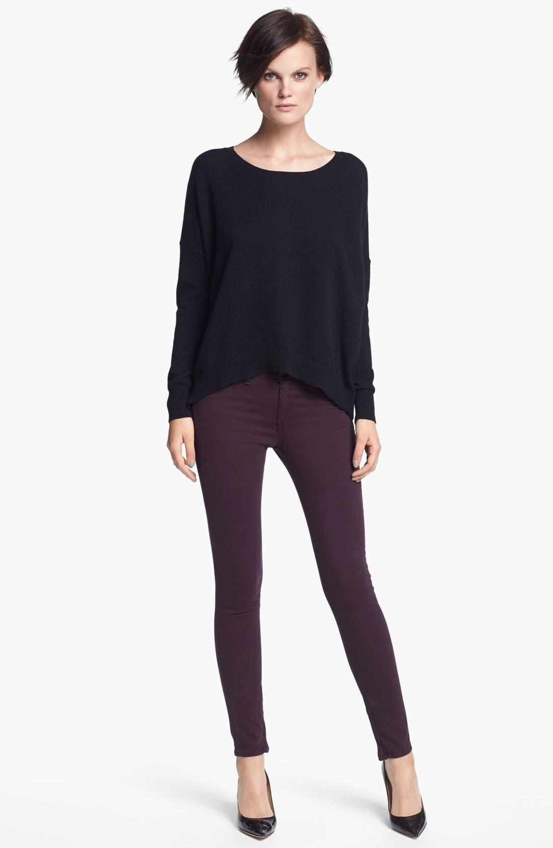 Alternate Image 3  - autumn cashmere Back Zip Cashmere Sweater