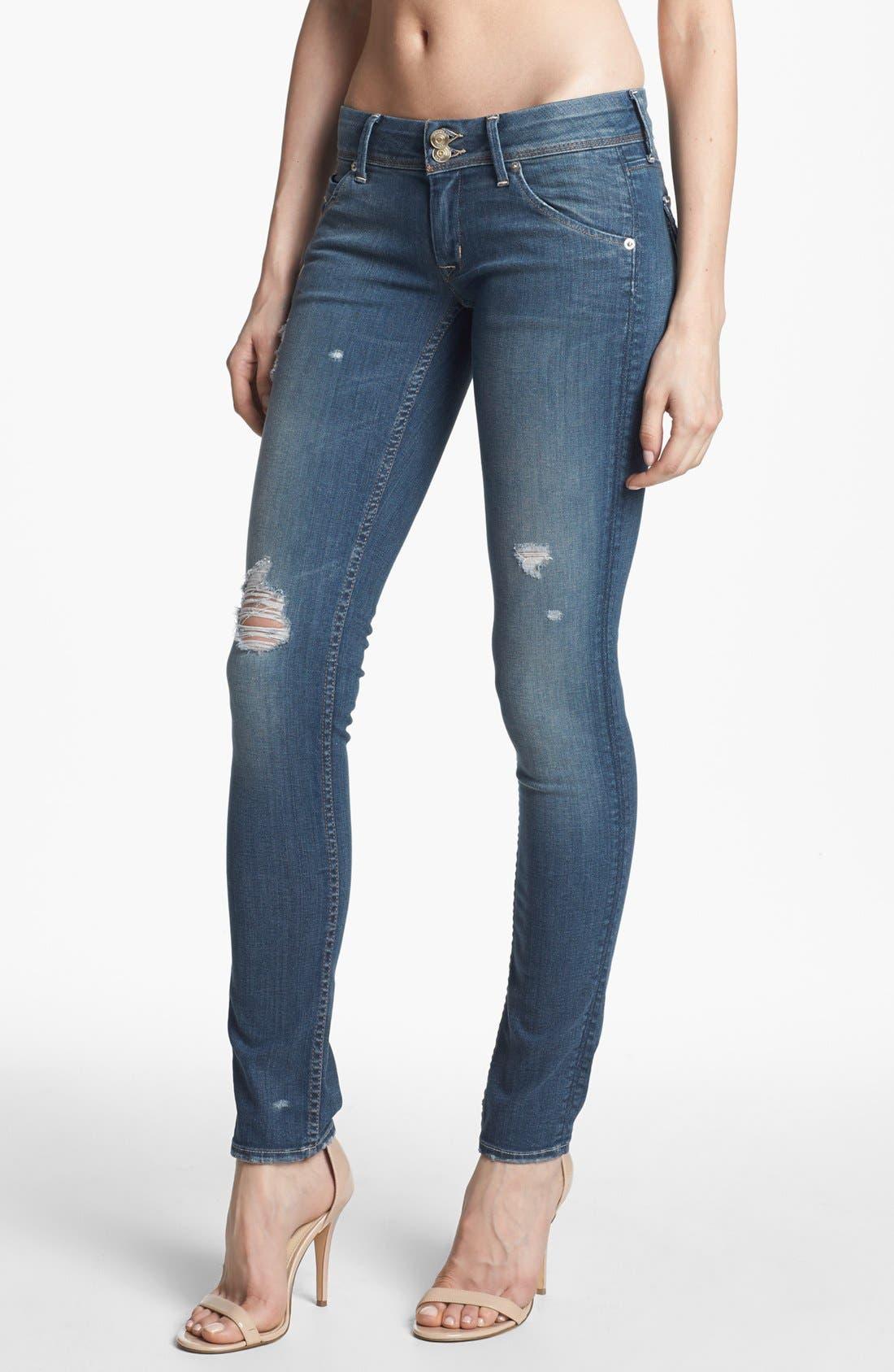 Alternate Image 1 Selected - Hudson Jeans 'Collin' Distressed Skinny Jeans (Vintage Florence)