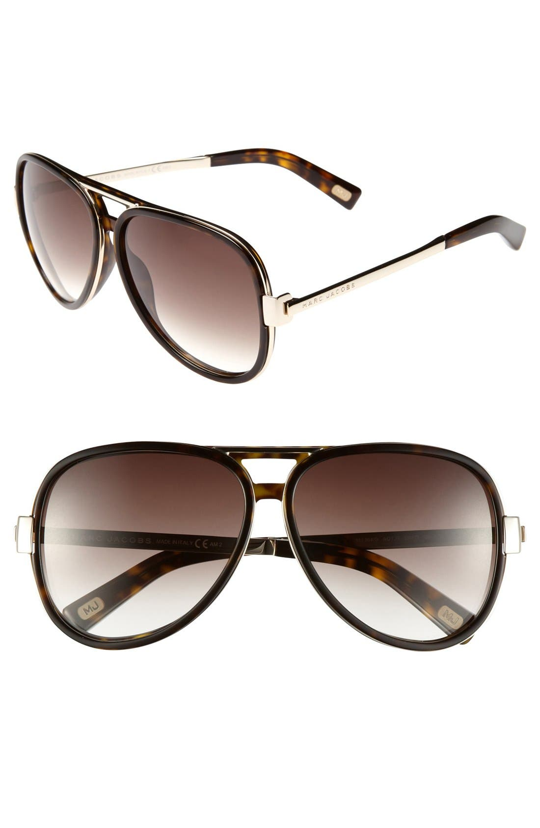 Main Image - MARC JACOBS 59mm Aviator Sunglasses