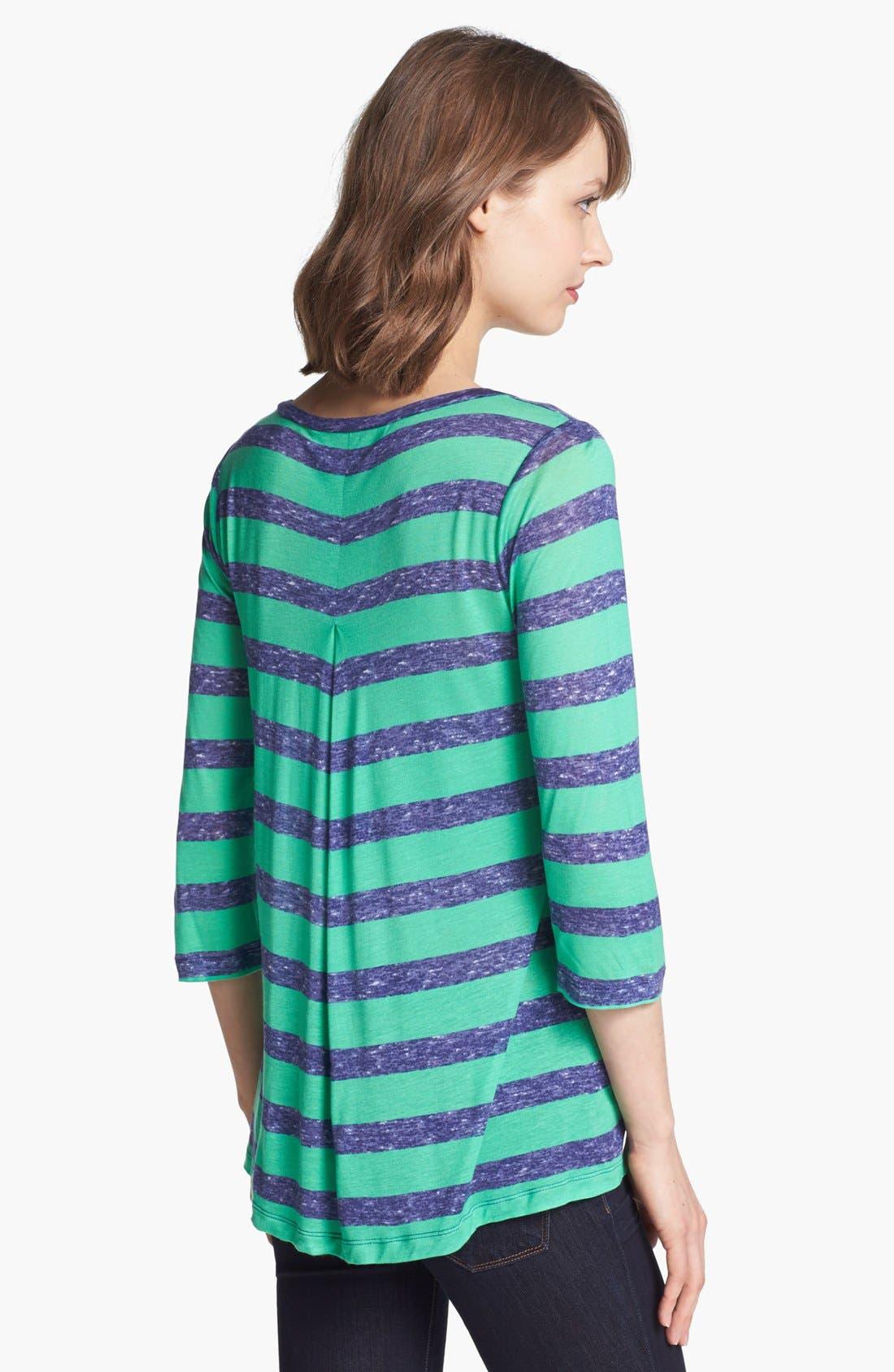 Alternate Image 2  - Splendid Heathered Stripe Tee
