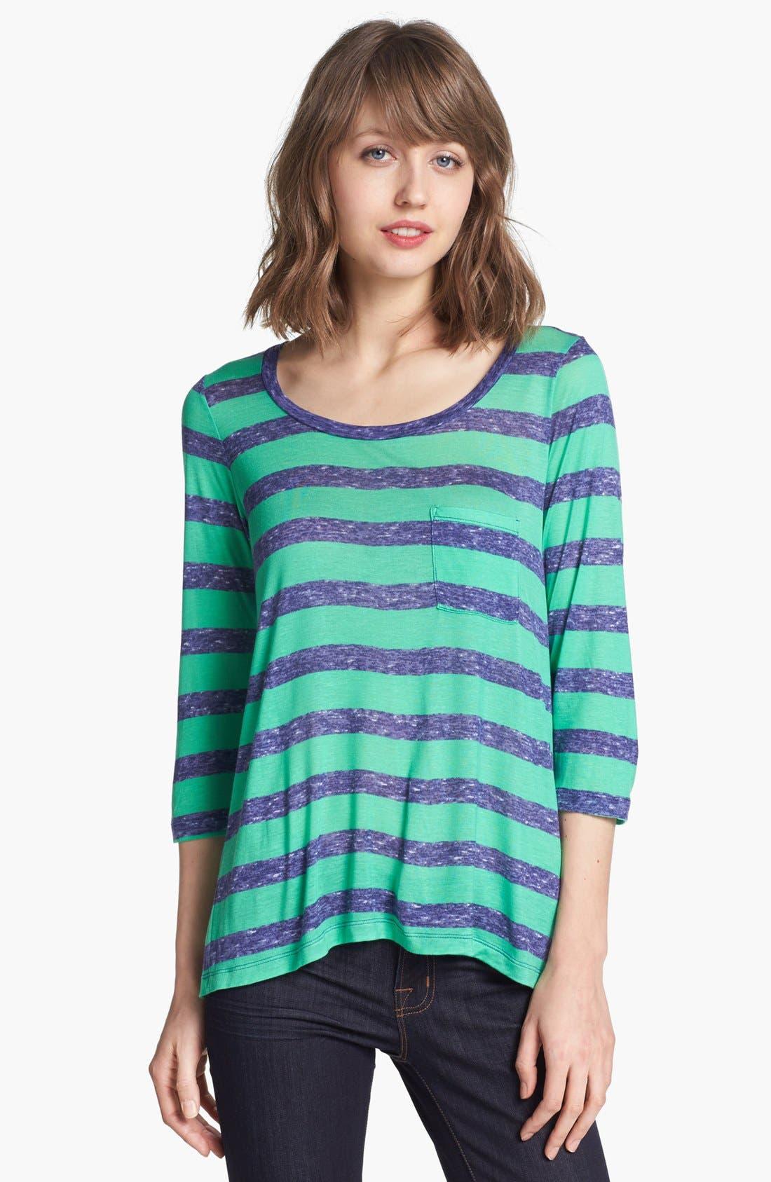 Alternate Image 1 Selected - Splendid Heathered Stripe Tee