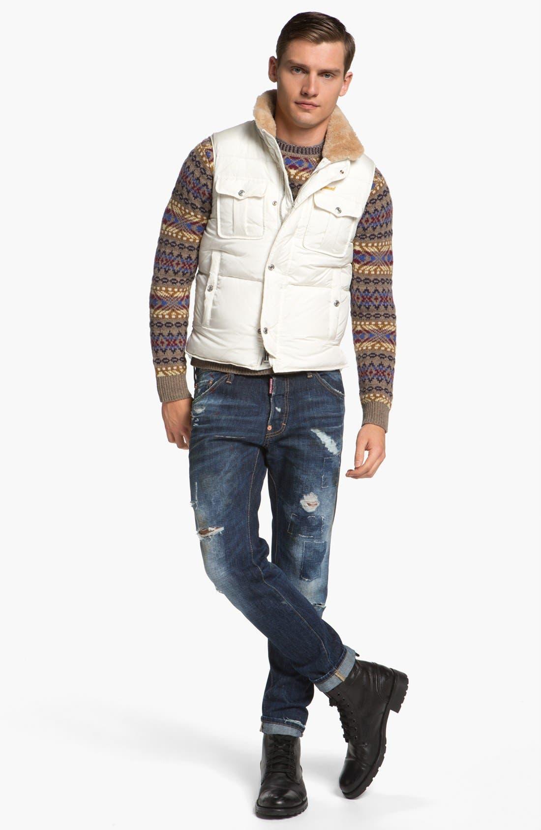 Alternate Image 4  - Dsquared2 Fair Isle Wool Crewneck Sweater
