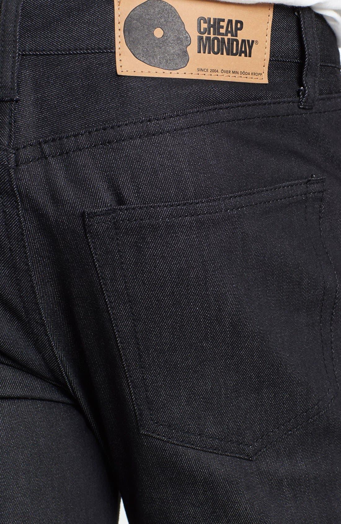 Alternate Image 4  - Cheap Monday 'Four' Slim Straight Leg Jeans (Dry Black)