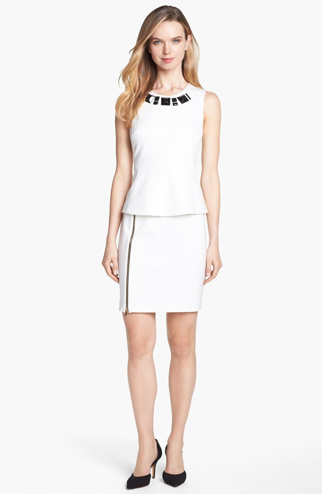 Alternate Image 4  - Vince Camuto Embellished Neck Peplum Top