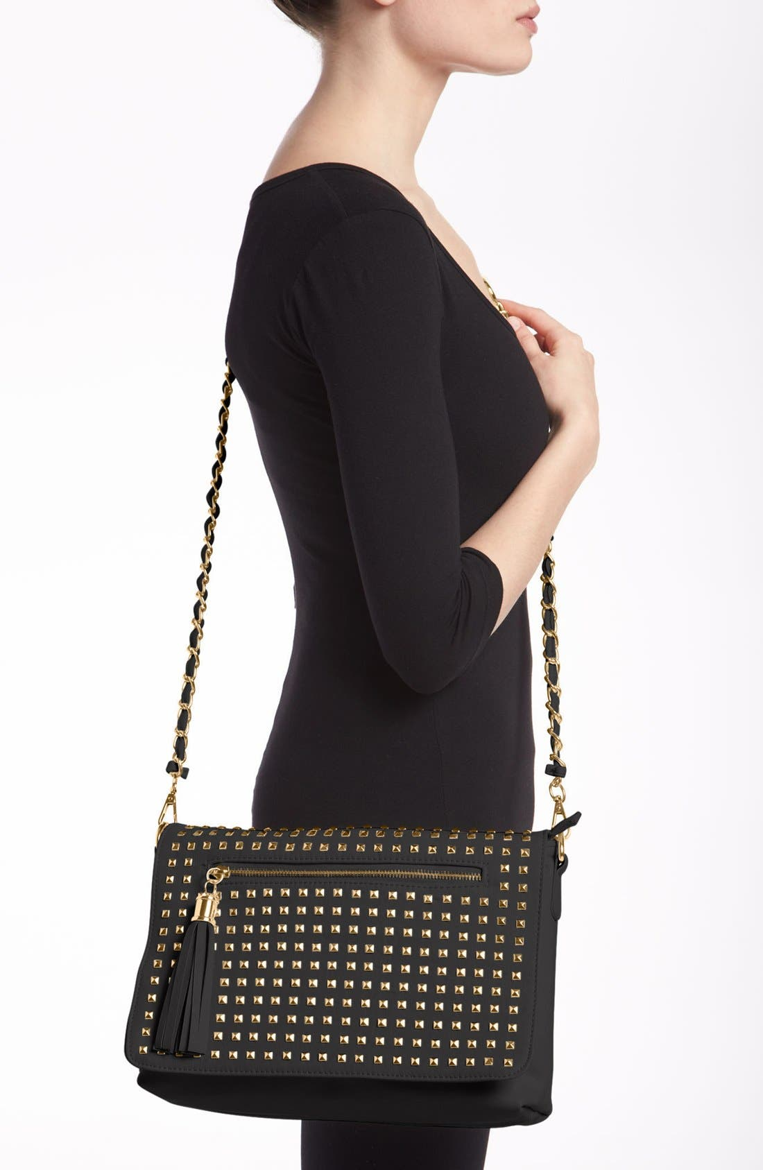 Alternate Image 3  - NB Handbags Studded Convertible Crossbody (Juniors)