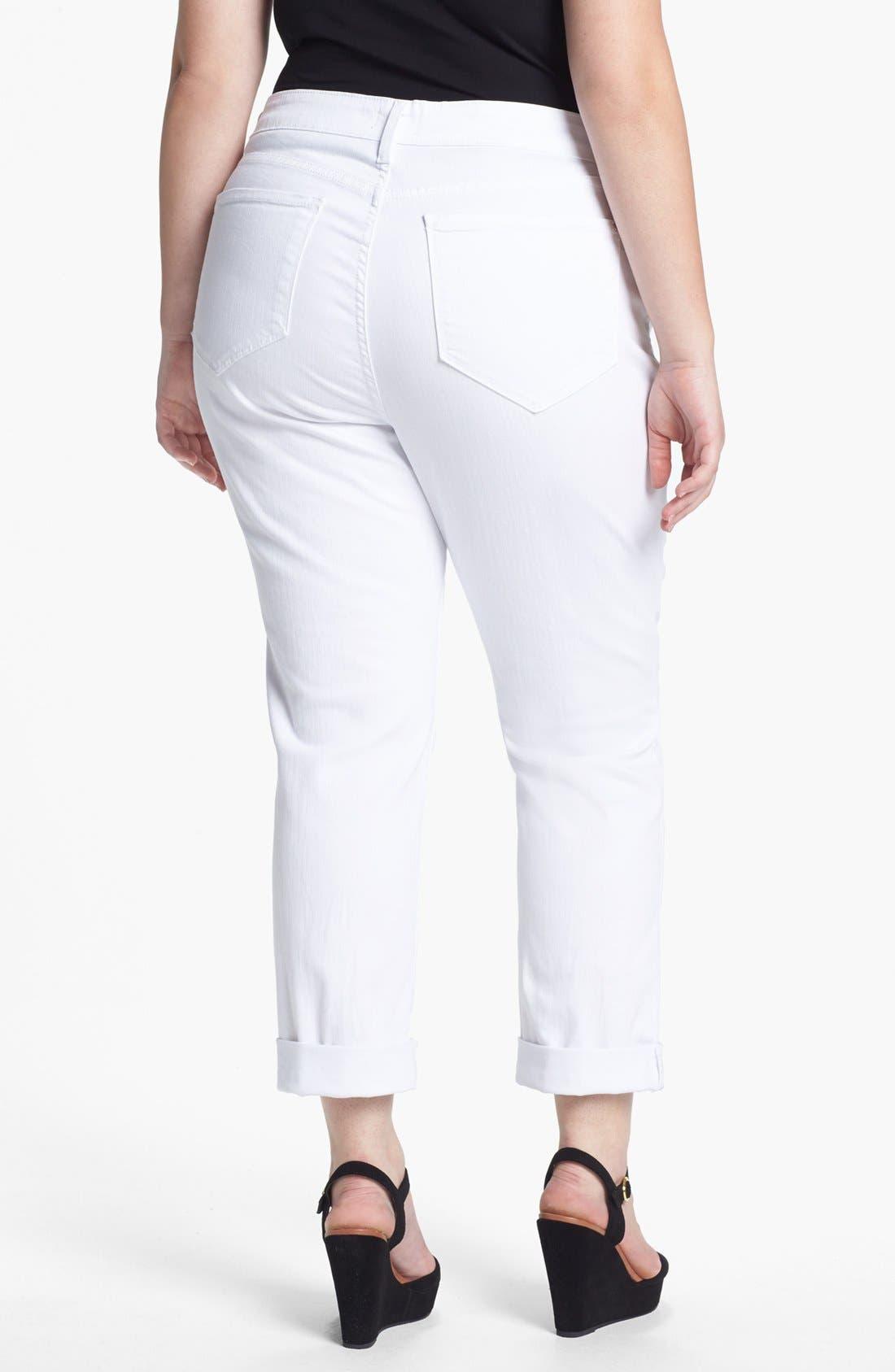 Alternate Image 2  - NYDJ 'Tanya' Cuff Boyfriend Jeans (Plus Size)