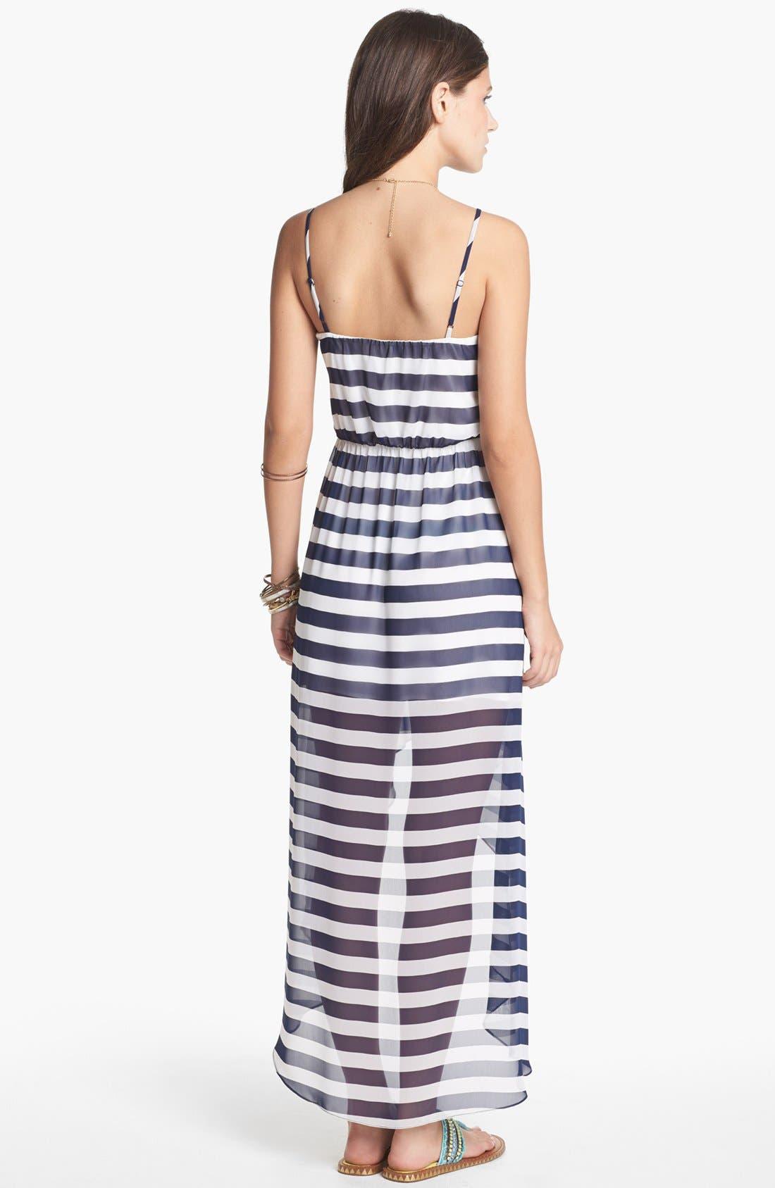 Alternate Image 2  - Soprano Print High/Low Dress (Juniors)