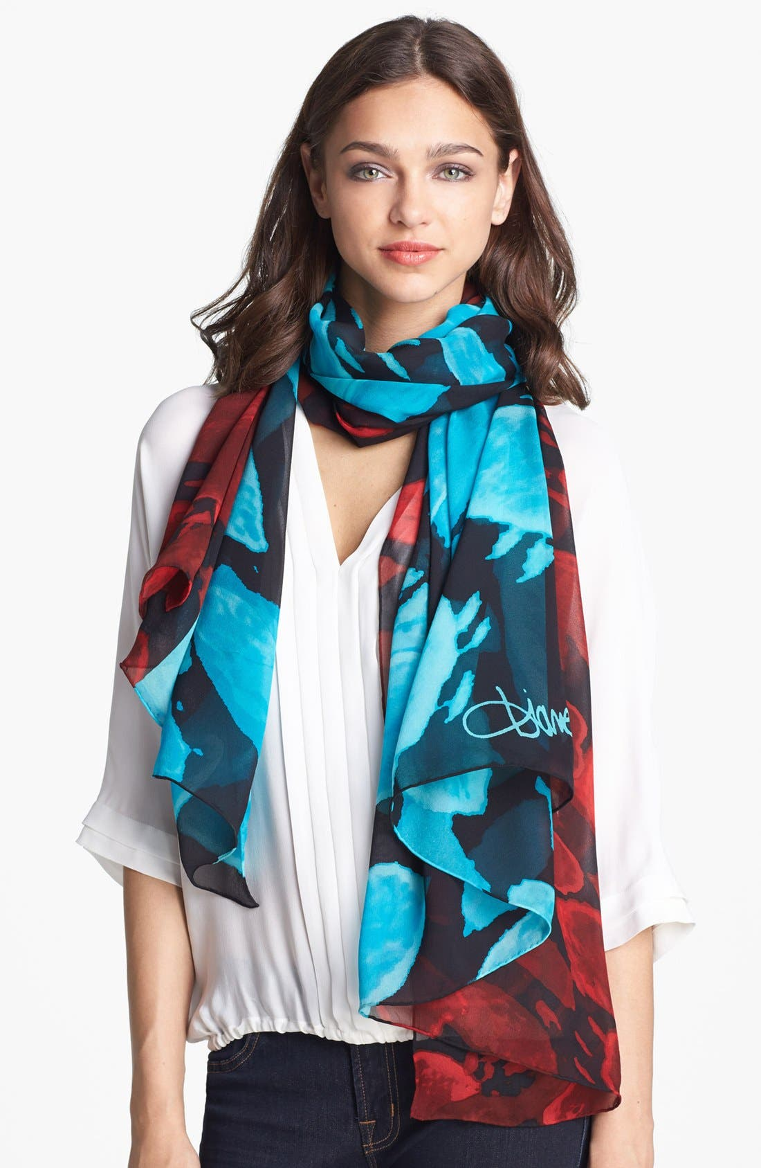 Alternate Image 1 Selected - Diane von Furstenberg Chiffon Scarf
