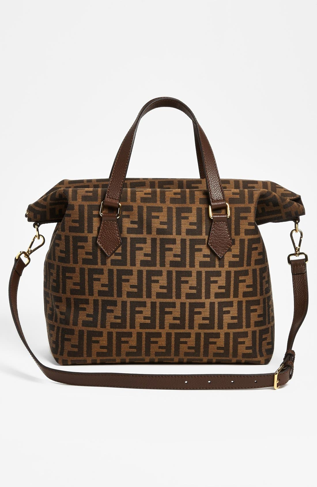 Alternate Image 4  - Fendi 'Large Zucca' Jacquard Satchel