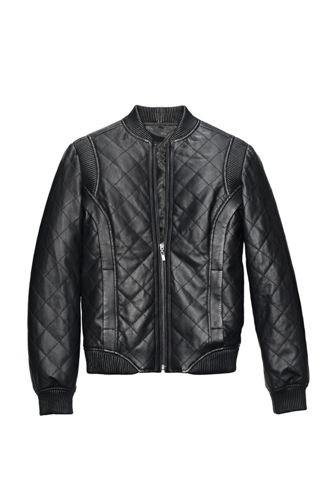 Alternate Image 5  - Truth & Pride Quilted Leather Bomber Jacket