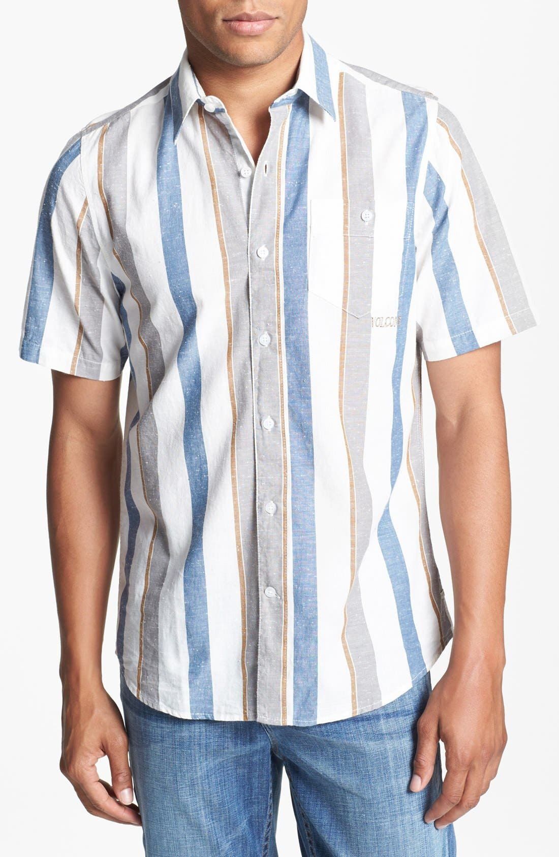 Alternate Image 1 Selected - Volcom 'Memento' Stripe Print Woven Shirt