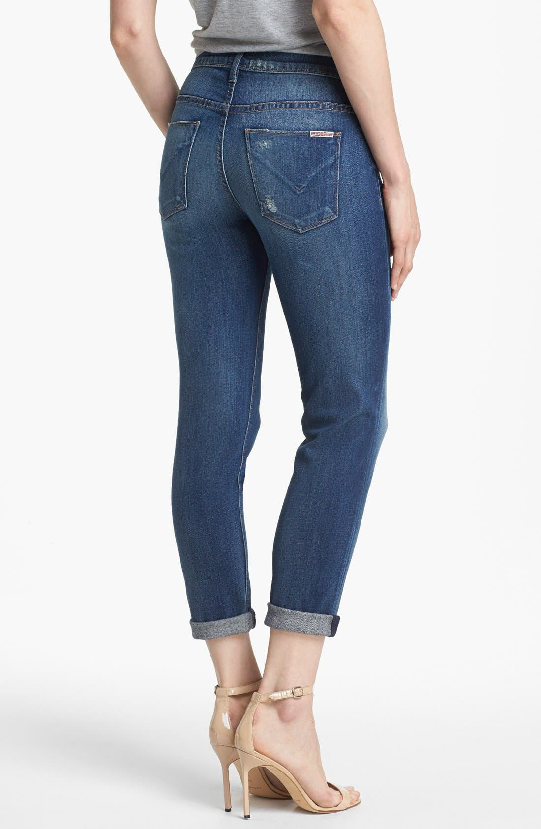 Alternate Image 2  - Hudson Jeans 'Leigh' Distressed Boyfriend Jeans (Wilbur)
