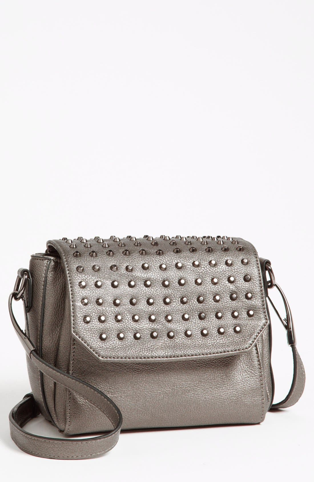 Alternate Image 1 Selected - POVERTY FLATS by rian 'small' faux leather crossbody bag