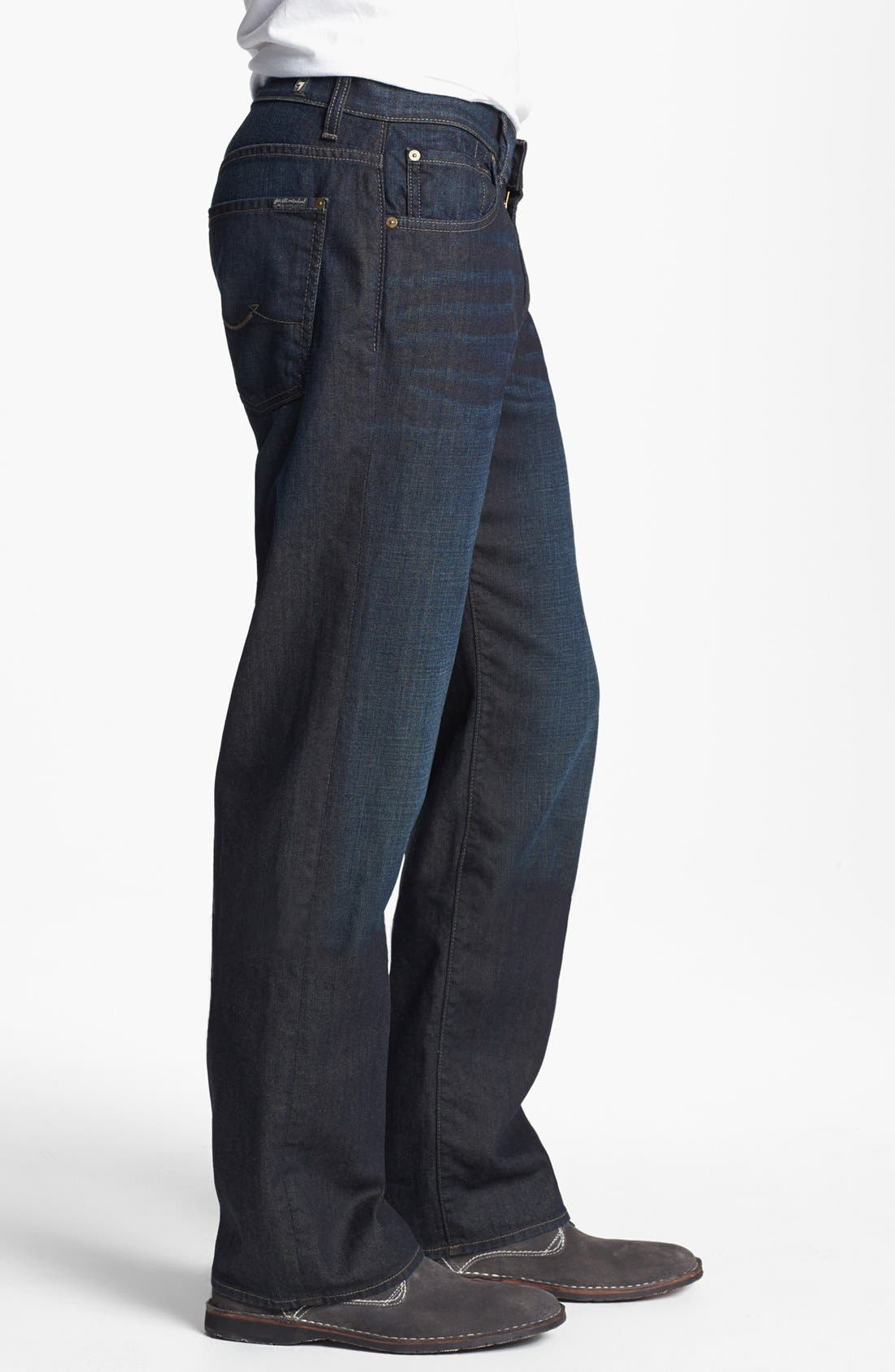Alternate Image 3  - 7 For All Mankind® 'Austyn' Relaxed Fit Jeans (Amber Night)