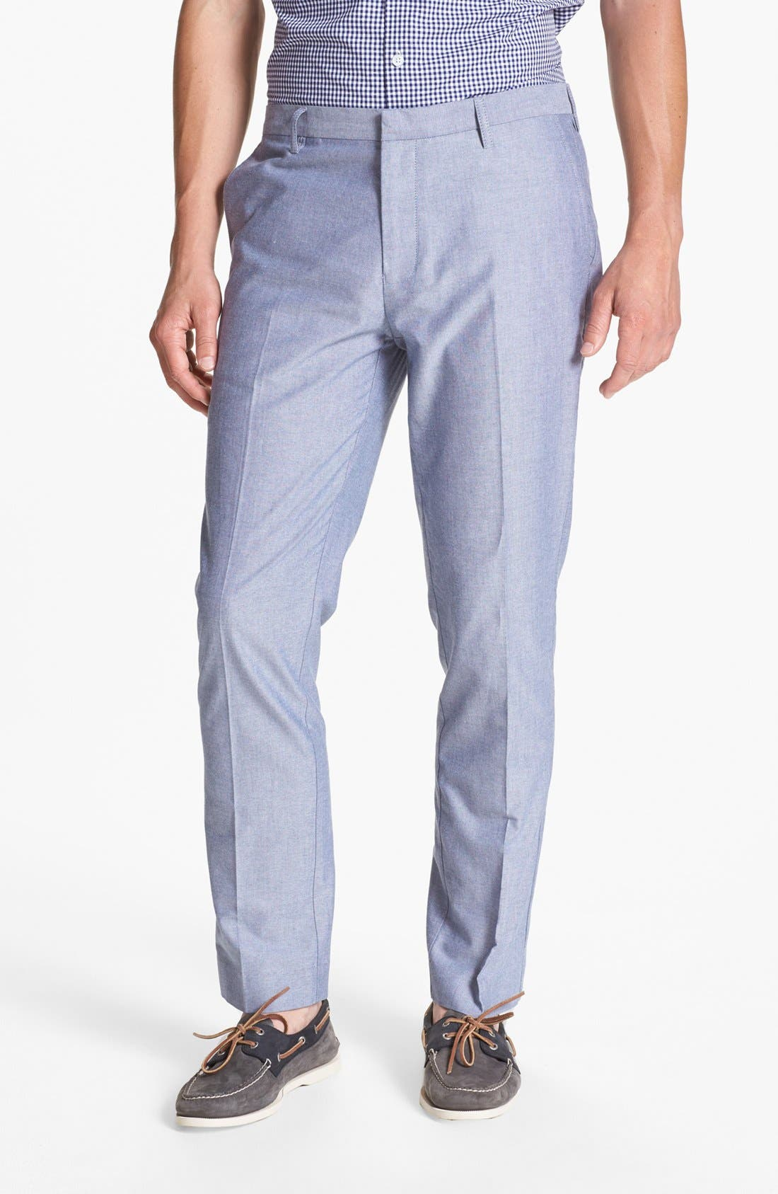 Alternate Image 1 Selected - Topman Skinny Fit Oxford Trousers