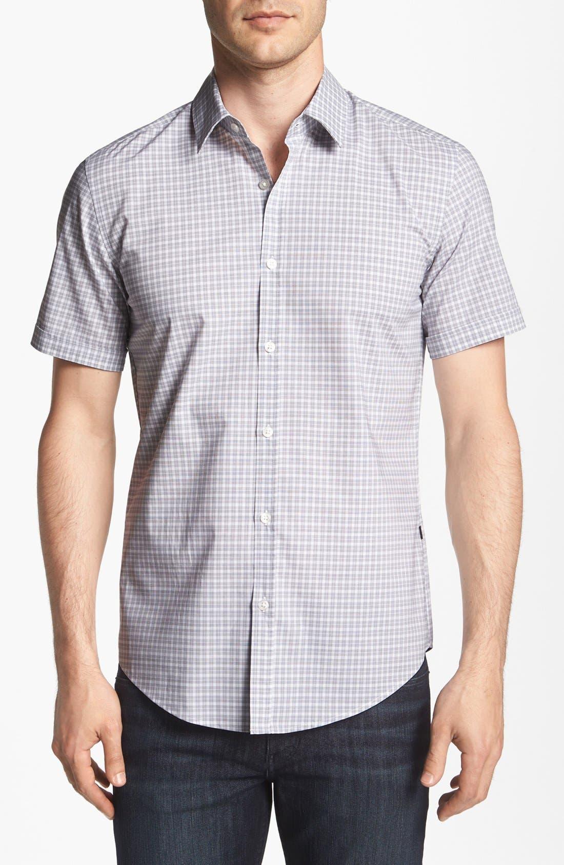 Alternate Image 1 Selected - BOSS HUGO BOSS 'Marc' Slim Fit Short Sleeve Sport Shirt