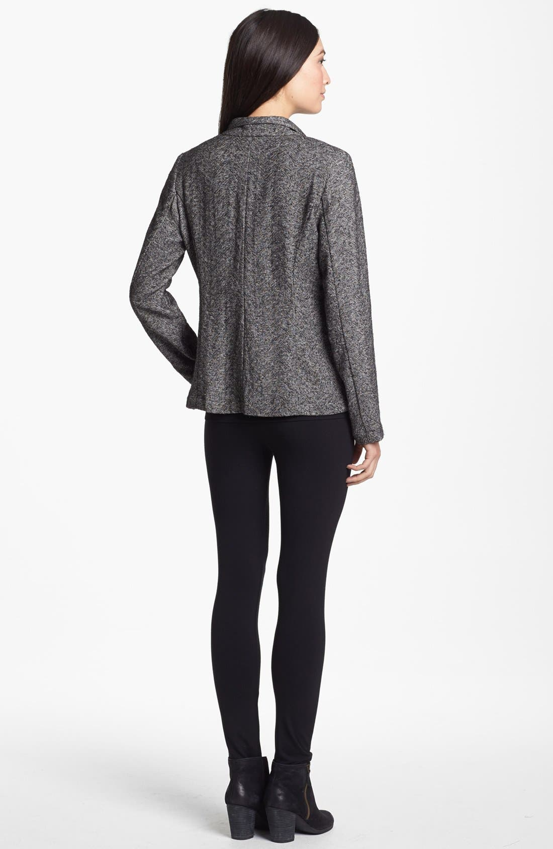 Alternate Image 5  - Eileen Fisher Drape Front Herringbone Tweed Jacket