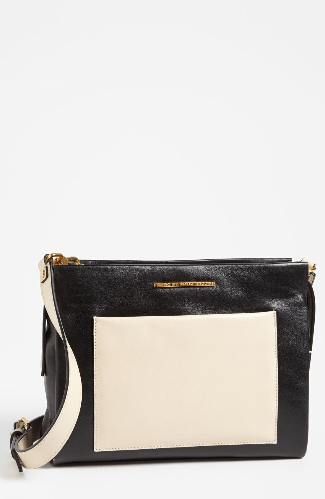 Alternate Image 1 Selected - MARC BY MARC JACOBS 'Fold Them' Leather Crossbody Bag