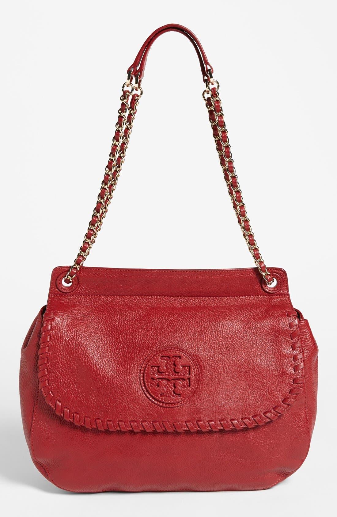 Alternate Image 1 Selected - Tory Burch 'Marion' Leather Saddlebag