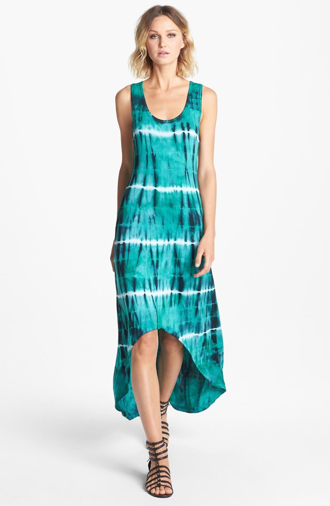 'Ivy' Tie Dye Maxi Dress,                         Main,                         color, Green