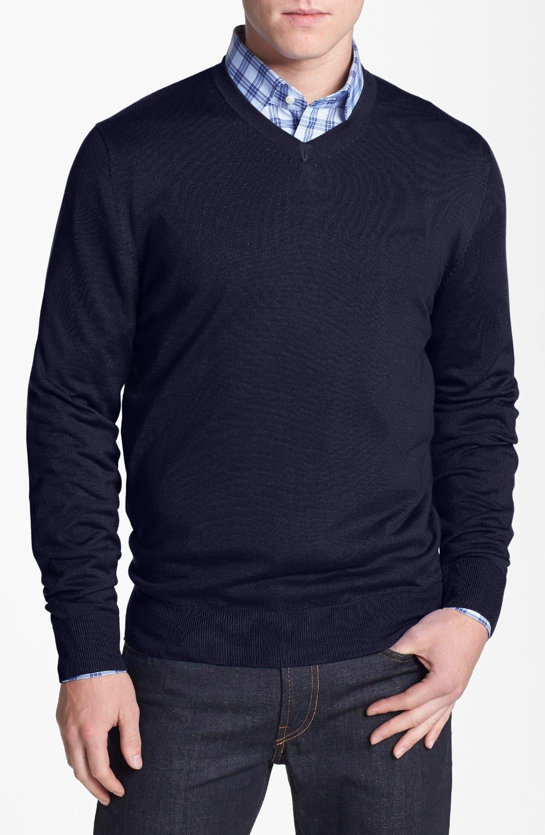 Main Image - Façonnable 'Sicoca' Classique Fit Silk Blend Sweater