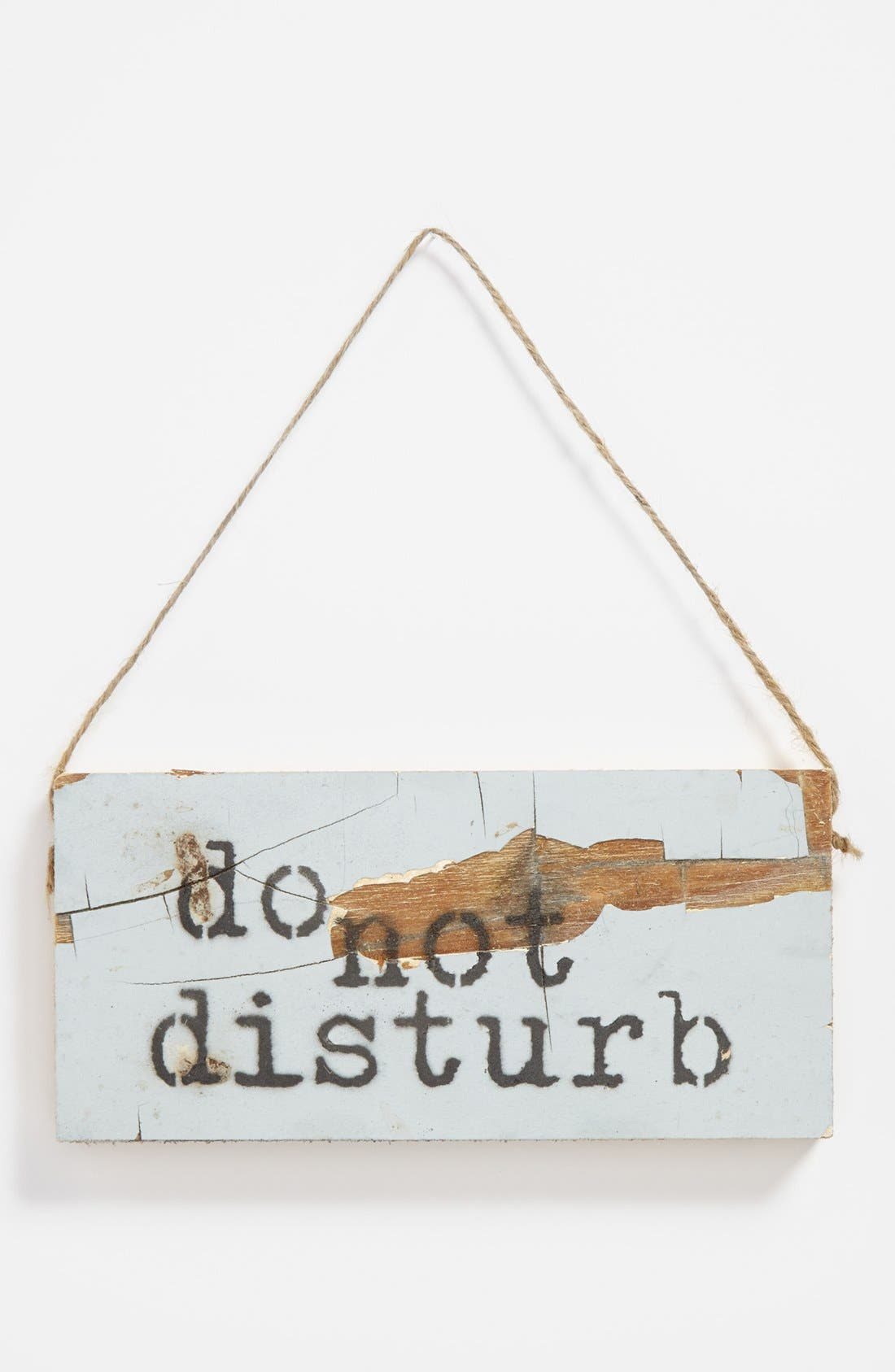 Alternate Image 1 Selected - 'Do Not Disturb' Repurposed Wood Sign