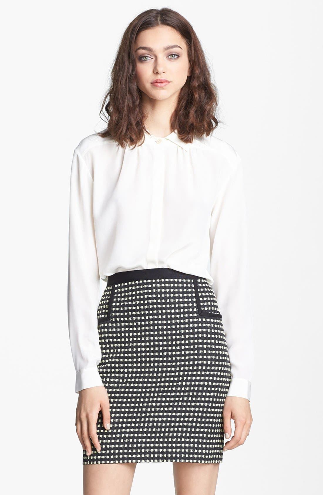 Alternate Image 1 Selected - Miss Wu Crêpe de Chine Blouse (Nordstrom Exclusive)