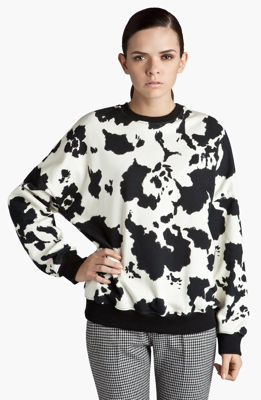 Alternate Image 1 Selected - MSGM Graphic Print Sweatshirt