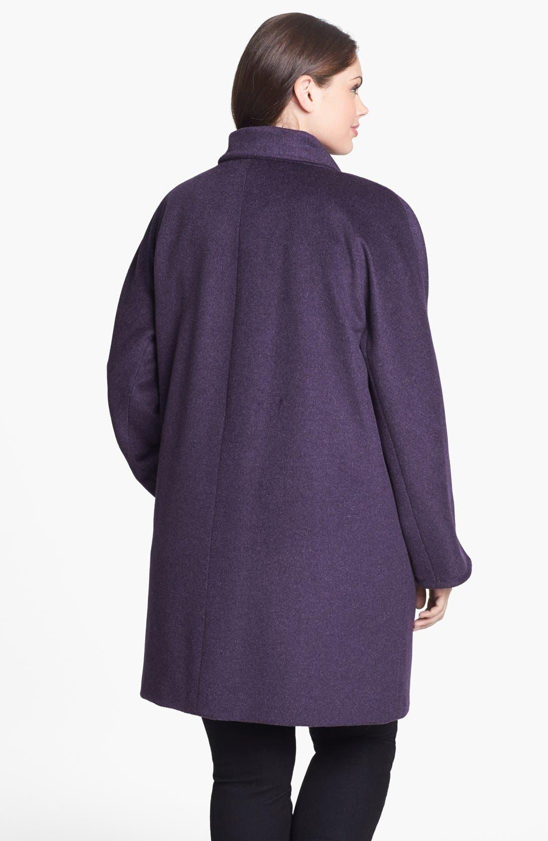 Alternate Image 2  - Ellen Tracy Dolman Sleeve Topper (Plus Size)