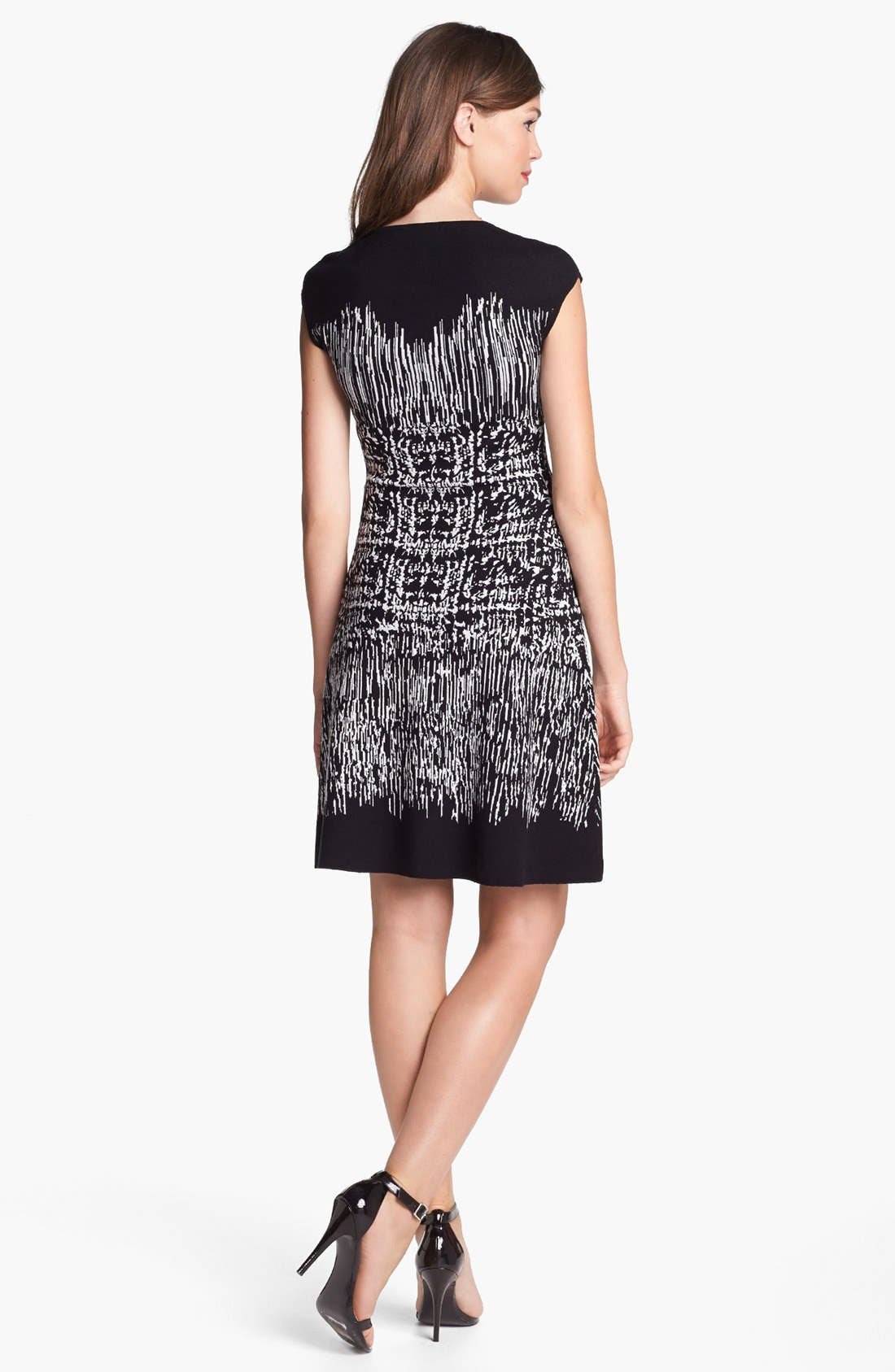 Alternate Image 2  - BCBGMAXAZRIA Cap Sleeve Sweater Dress