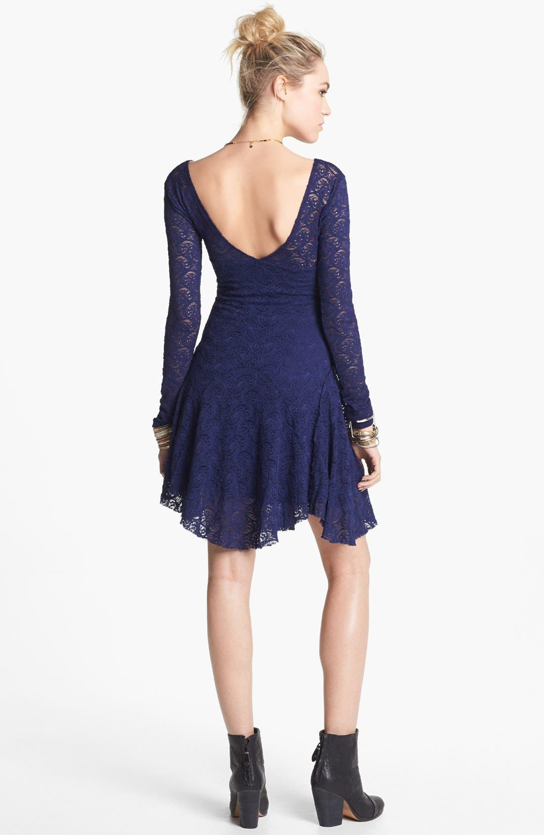 Alternate Image 2  - Free People 'Katya' Paisley Lace Dress