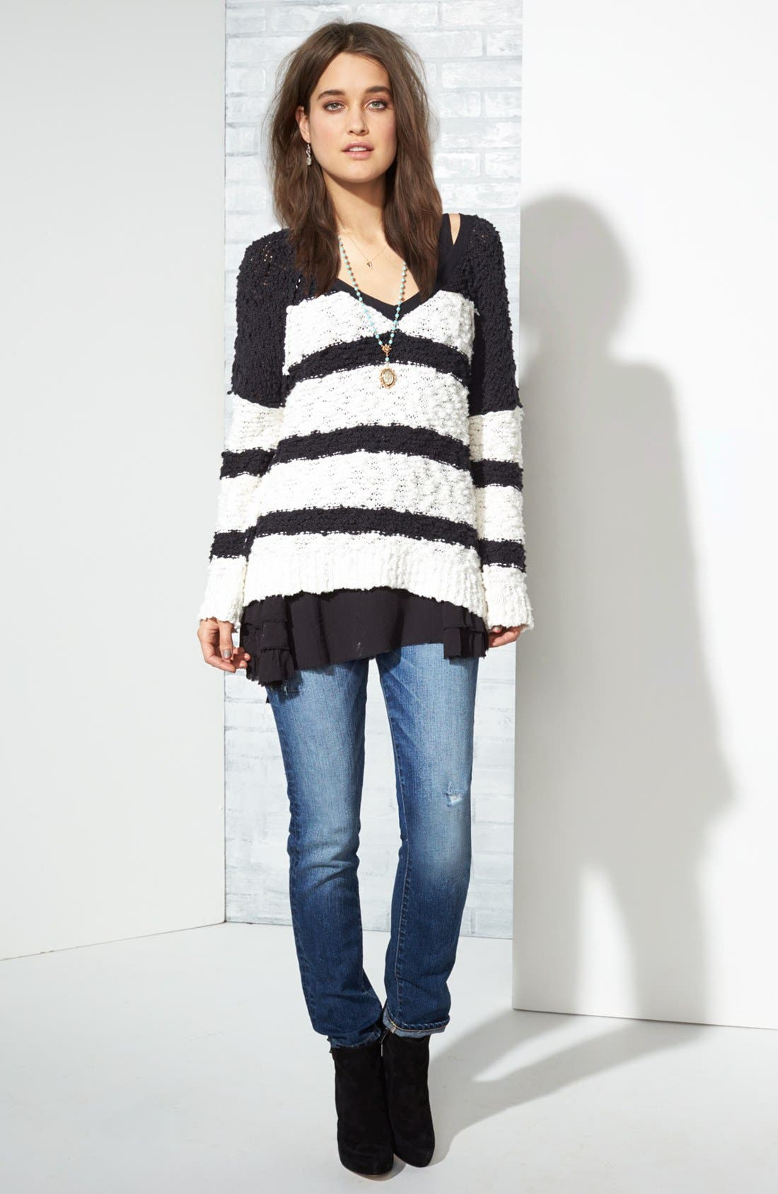 Main Image - Free People Pullover, Tank & Paige Denim Jeans