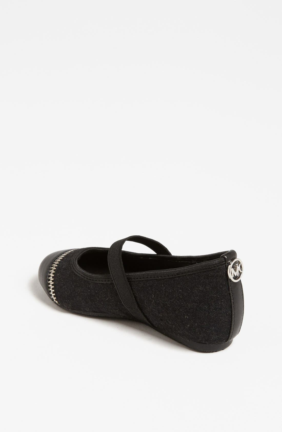 Alternate Image 2  - MICHAEL Michael Kors 'Fay' Zipper Strap Flat (Toddler)