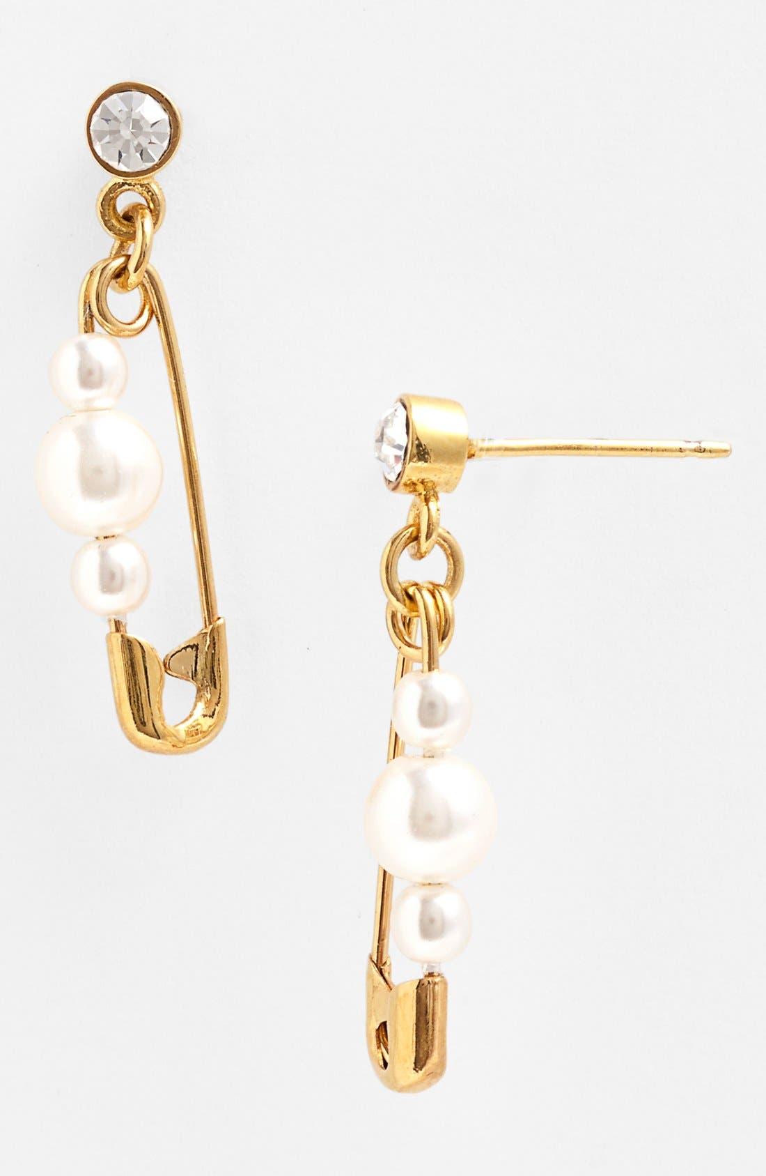 'Pearls in Peril' Earrings,                         Main,                         color, Pearl