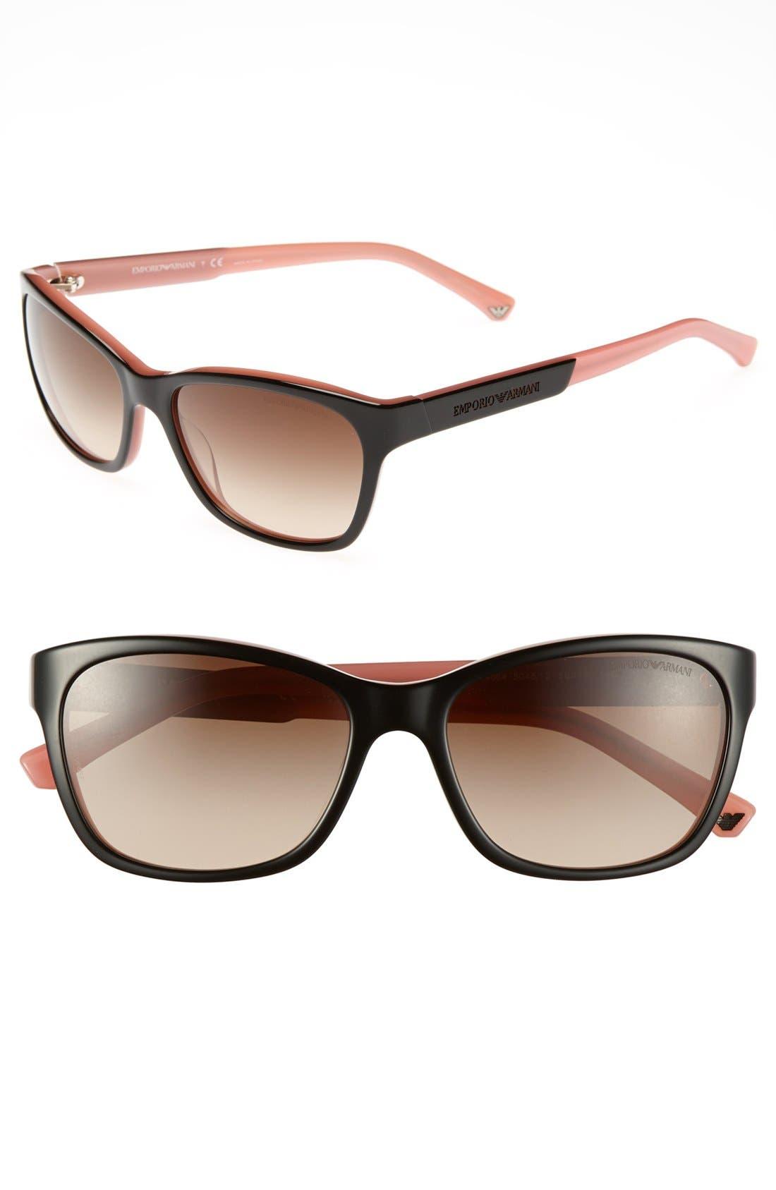 Alternate Image 1 Selected - Emporio Armani 56mm Retro Sunglasses