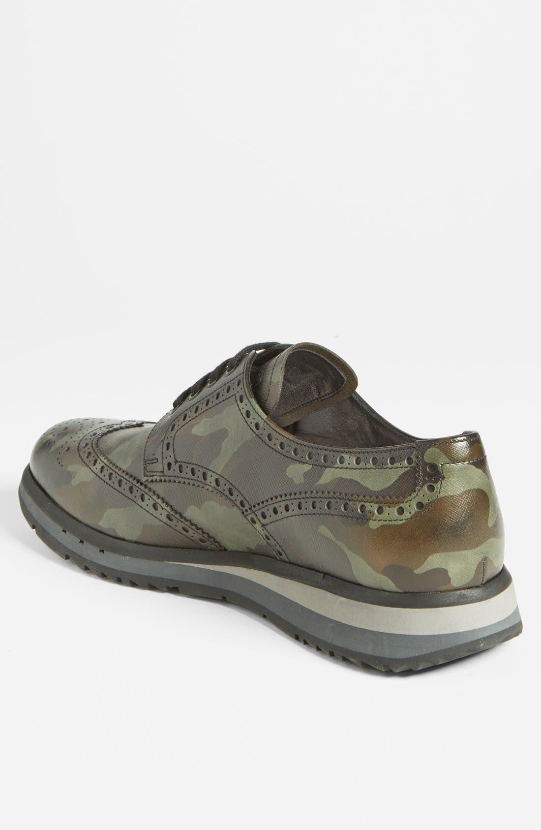 Alternate Image 2  - Prada Camo Wingtip Sneaker