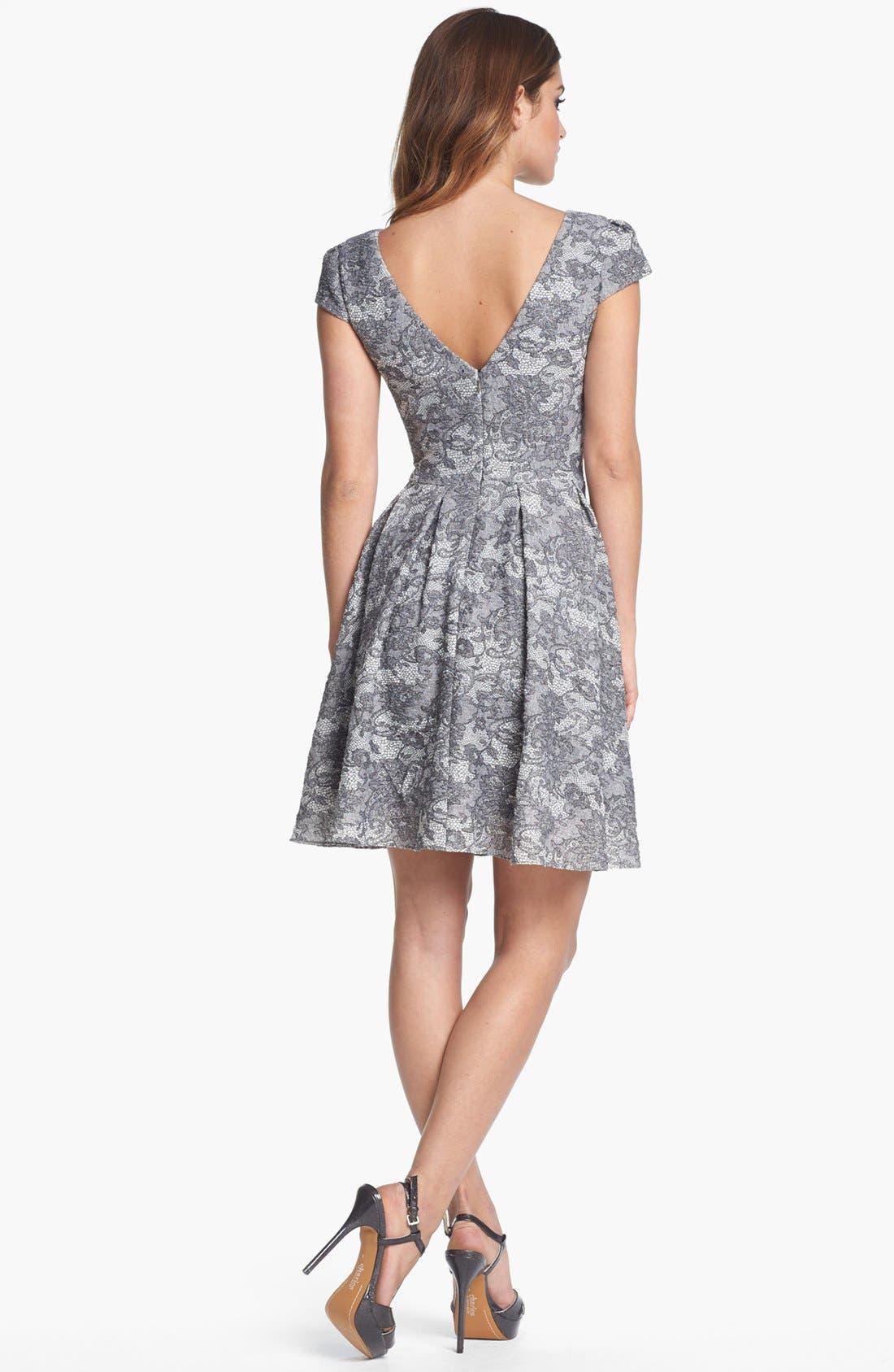 Alternate Image 2  - Betsey Johnson Lace Print Fit & Flare Dress