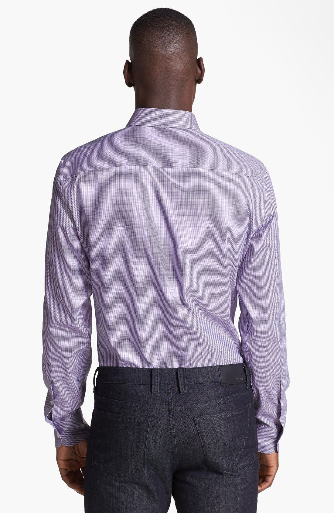 Alternate Image 2  - Z Zegna Jacquard Woven Shirt
