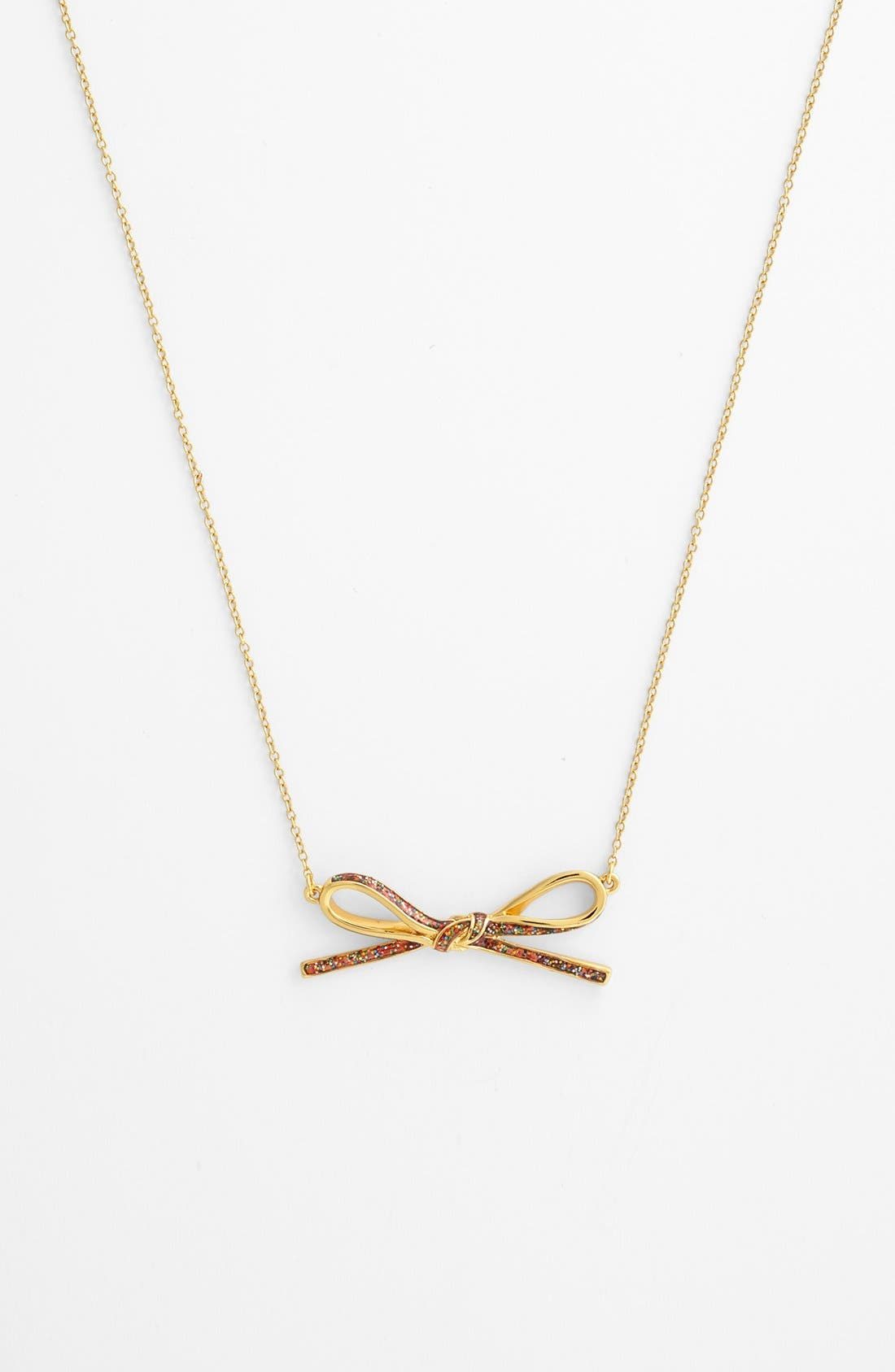 Alternate Image 2  - kate spade new york 'skinny mini' long bow pendant necklace