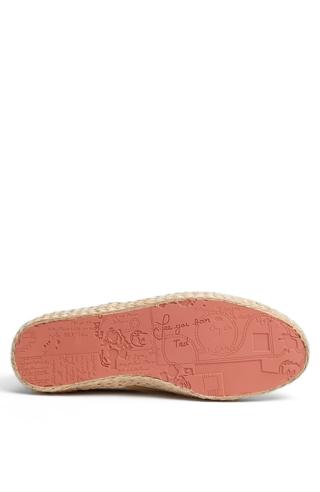 Alternate Image 4  - Ted Baker London 'Drilll 2' Espadrille Sneaker
