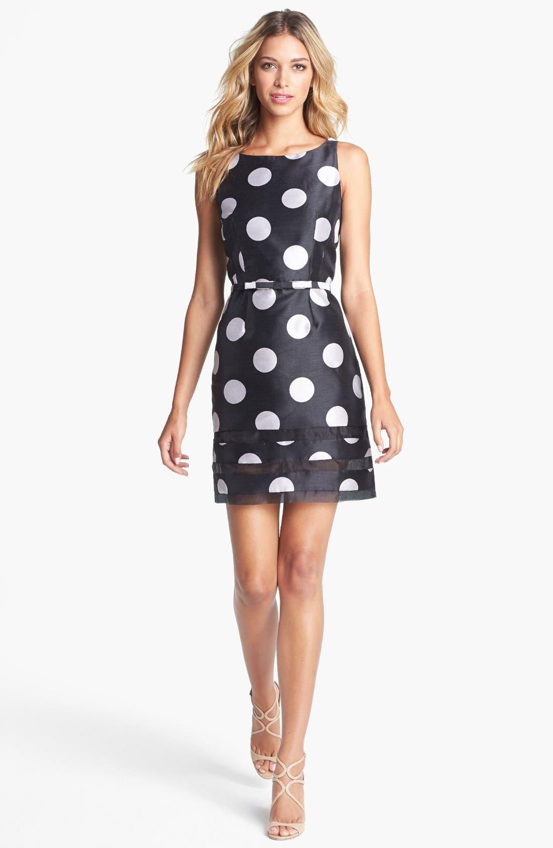 Alternate Image 1 Selected - Taylor Dresses Polka Dot Sheath Dress