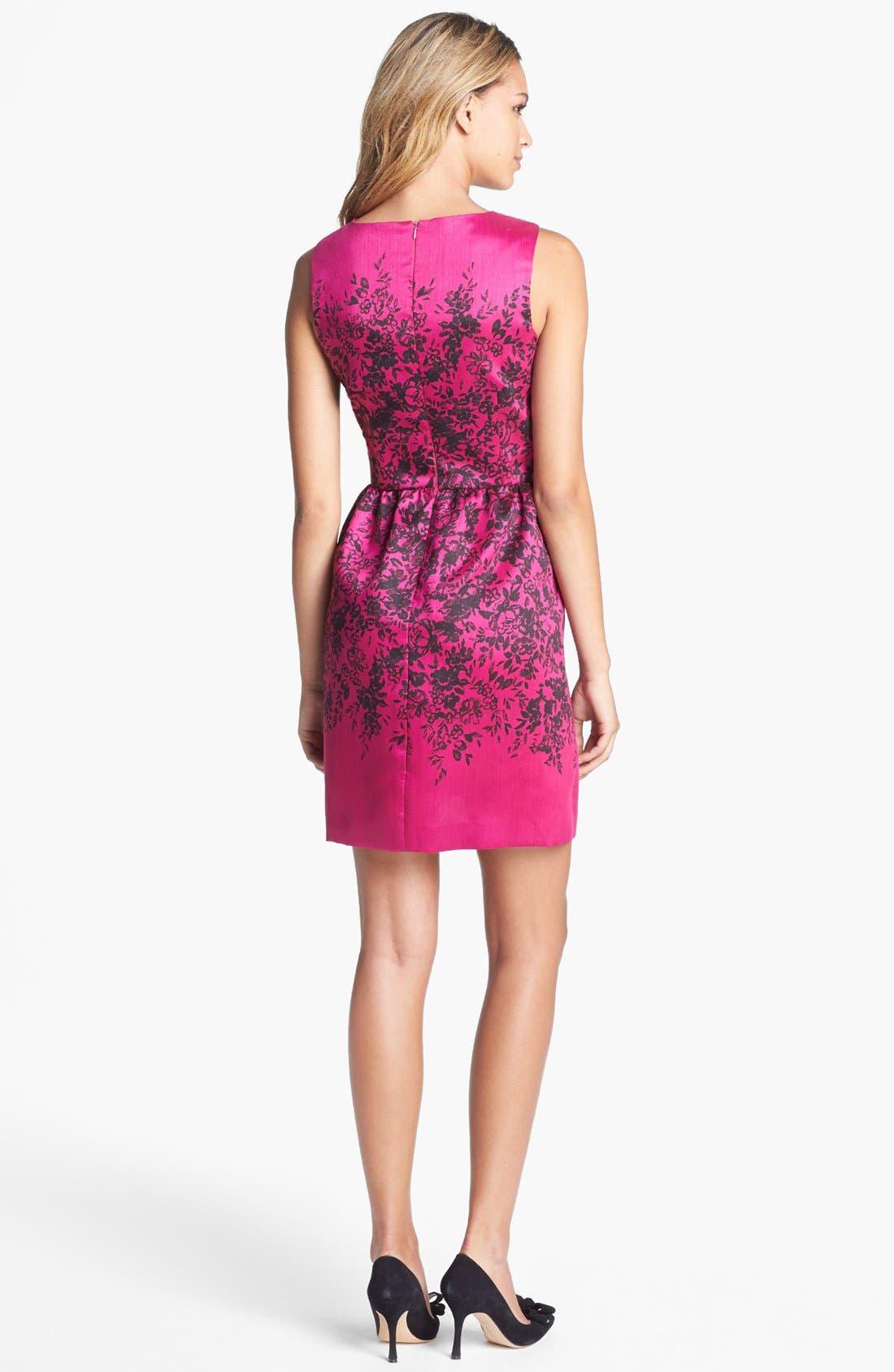 Alternate Image 2  - Taylor Dresses Print Fit & Flare Dress