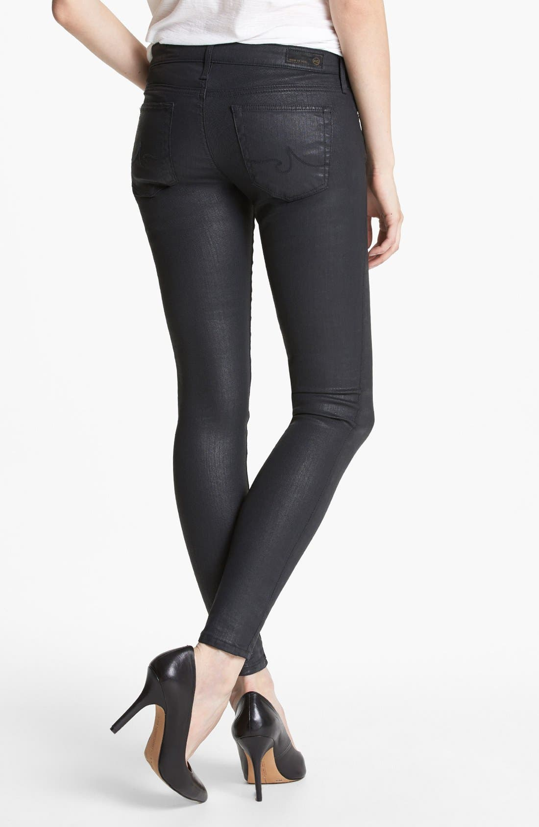 Alternate Image 2  - AG Coated Extreme Skinny Jeans (BSC)