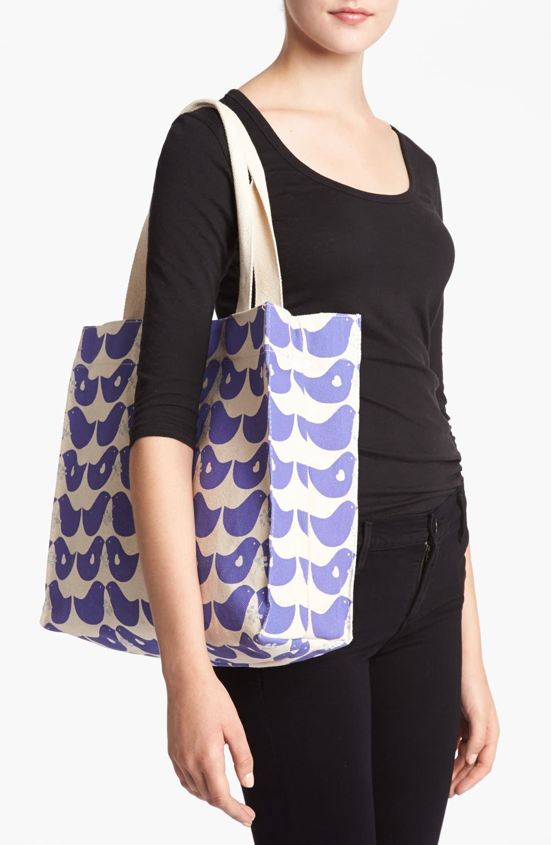 Alternate Image 2  - Apple & Bee Organic Cotton Canvas Tote