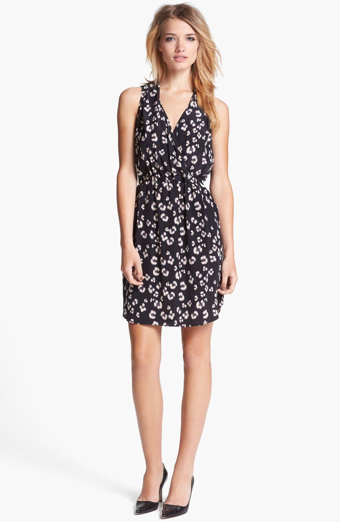 Alternate Image 1 Selected - Rebecca Taylor 'Bobcat' Print Silk Blouson Dress